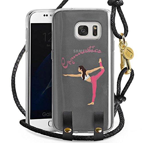 DeinDesign Carry Case kompatibel mit Samsung Galaxy S7 Handykette Handyhülle zum Umhängen Gymnastic ohne Hintergrund Hobby