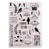 Exing Sellos Scrapbooking Clear Stamp, Hogar Dulce Hogar Sello Claro De Silicona Sello DIY Scrapbook Relieve Álbum Decoración Craft Art