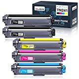 OfficeWorld Compatible Brother TN241 TN245 TN-241 TN-245 Cartucho de Tóner para Brother DCP-9020CDW DCP-9015CDW HL-3170CDW HL-3140CW HL-3150CDW MFC-9340CDW MFC-9140CDN MFC-9330CDW (5 Paquetes)