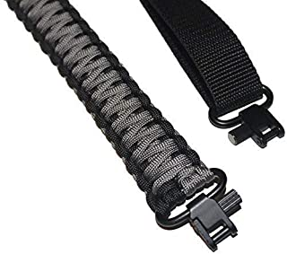 Estobi Outfitters Gun Sling for Rifle Shotgun or Crossbow - Comfortable, Lightweight and Strong Paracord - Two Point Adjustable Strap with Metal Swivels