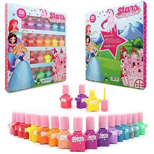 Princess Set de esmalte de uñas a base de agua Pelable 18 Botellas 18...