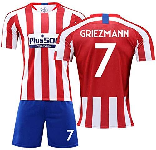 BBJOZ Antoine Griezmann # 7 Jersey Men s Footballs Jersey-Set Todos los tamaños para niños y Adultos (Color: D Talla: Adultos-S)-Adultos-L_B