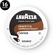 Lavazza Perfetto Single-Serve Coffee K-Cups for Keurig Brewer, Dark and Velvety Espresso Roast, 16-Count Box Net WT 5.5oz