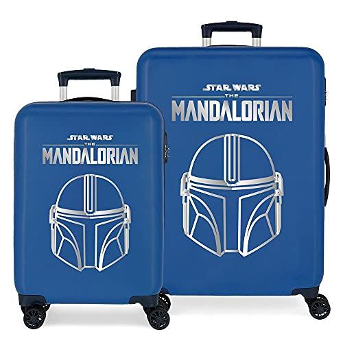 Star Wars Legend Juego de Maletas Azul 55/68 cms Rígida ABS Cierre de combinación Lateral 104L 6 kgs 4 Ruedas Dobles Equipaje de Mano