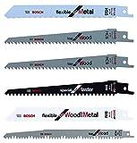 Bosch - Pack de 5 cuchillas para KEO + Bosch 2 608 650 676 - Hoja de sierra sable S 1531 L - Top for Wood (pack de 5)