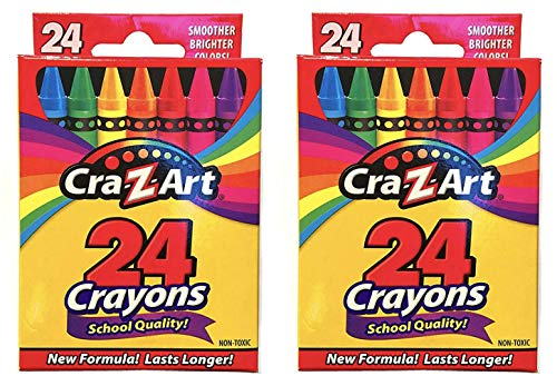 Cra-Z-art Crayons, 24 Count (2 pack)