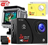 HDCool Action Kamera 1080P Wi-Fi wasserdichte Sport Cam Weitwinkel-Objektiv 1080P HD 16MP for...