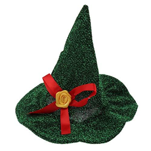 MagiDeal Sombrero Festivo de Navidad para Mascotas, Gorro de Fiesta para Perros, Gorro de Halloween, Navidad, Perro, Gato, Mascota, Cachorro, Trajes, 5 Colores - Verde