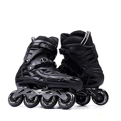 LXWRF Rollschuhe, Inlineskates, Freestyle Pulleys, Schwarz, Skating Für Anfänger 43EUR(UK 8)