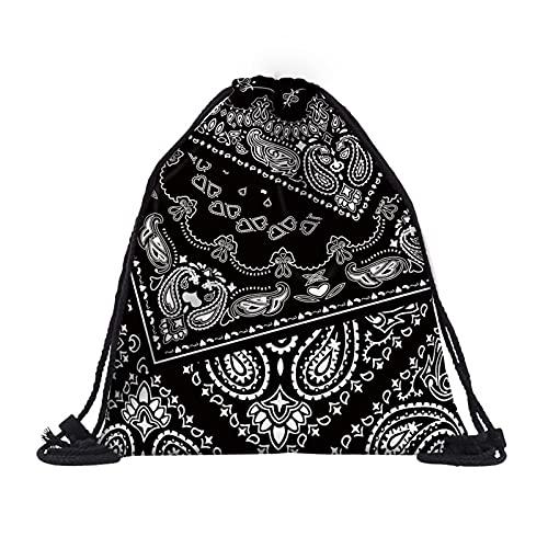 GO-AHEAD Mochila de deporte para mujer, moderna, impresión 3D, con cordón, bolsa, mochila de viaje, mochila para hombre, mochila (color: 25389)