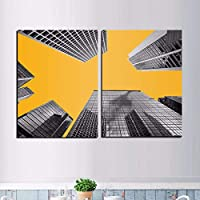 """スカンジナビアの建物の帆布はポスターを印刷し、壁の芸術の絵を印刷します現代の居間の家の装飾23.6""""x 31.4""""(60x80cm)フレームレス×2"""