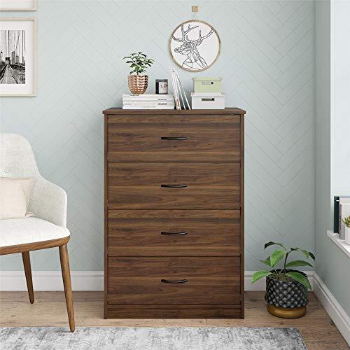 Mainstay 4-Drawer Dresser, Black Oak (Black Oak)