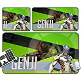 GEMORE Gaming Mouse Pad, Overwatch Mouse Pad, Genji Mouse Pad-Functional Non-Slip Rubber Base with Stitched Edges (Size : 70x30x0.5cm)