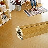 ウッドカーペット 4.5畳用 本間4.5畳用 約285x285cm [ナチュラル色] [JS-80シリーズ] [天然木使用(タモ材)] [4色展開] DIY フローリング 木目 簡単 敷くだけ シート セルフリフォーム 低ホルマリン [並行輸入品]