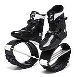 XHJL Zapatos de Salto de Rebote para Deportes al Aire Libre y Interiores Botas de Salto Ajustables Antideslizantes para Correr, Entrenamiento pérdida de Peso, Unisex (Blanco y Negro) (L)