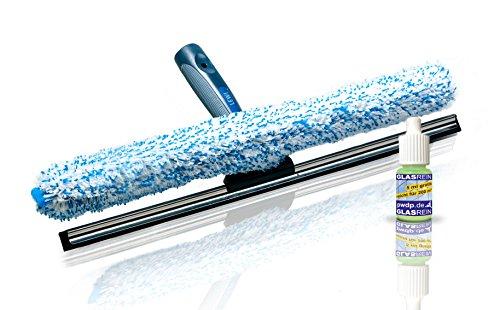 Putzen wie die Profis Fensterwischer und Fenster-Abzieher als Kombi-Set - Wischbreite 55cm - Profi Set 2in1 - Fensterreinigungsset - inkl. Gratisprobe Profi-Glasreiniger