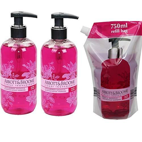 Abbott&Broome Handwash Magnolie 2 x 300 ml + 750 ml Nachfüllpack