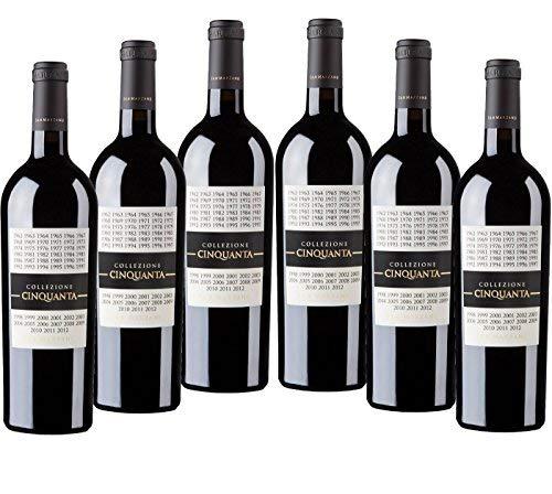 Sparpaket San Marzano Collezione Cinquanta Vino Rosso d' Italia (6 x 0,75 l) 2012 Rotwein trocken