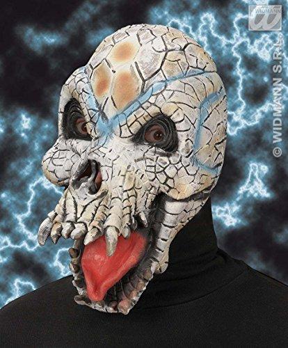 Masque latex crâne reptilien
