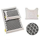Best Back Pain Acupuncture Mats - TimeBeeWell Eco-Premium Linen Coconut Acupressure Mat and Pillow Review