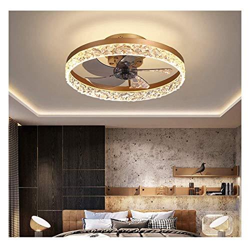 WOERD Ventilador de Luz de Techo Lámpara LED 30W Ventilador Invisible con Control Remoto Regulable Luz Fría/Neutra/Cálida Decoración de Interiores Plafón de Techo Lluminación