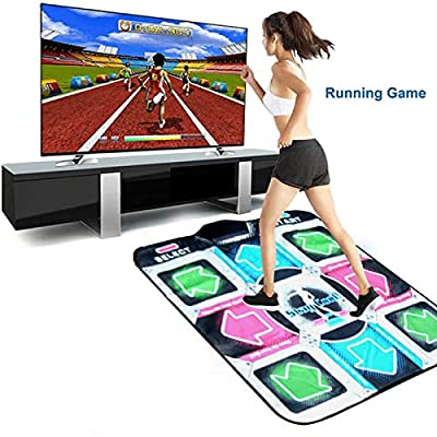 Dance Mat for Kids Adults, High Elasticity And Sensitivity, Non-Slip Wireless Dancer Step Pads With 150 Games and AUX Music, Levels, Plug and Play, Sense Game (Single-2)