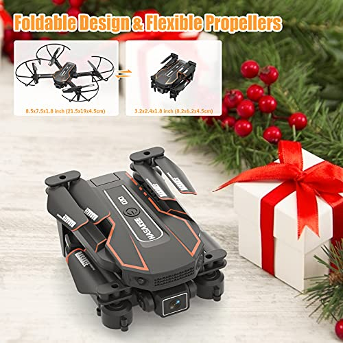 Q10 Mini Drones for Kids with Camera FPV Wifi 720P HD Remote Control Helicopter Toys Gifts for Boys Girls, Foldable RC Quadcopter with Wifi Live Video, Altitude Hold, Headless Mode, 3D Flips