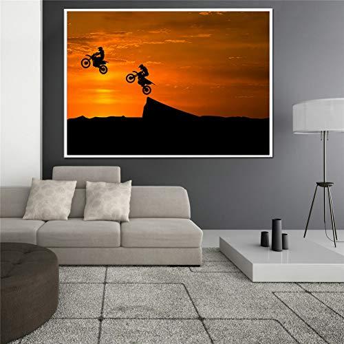 QAZEDC Decoratieve schilderijen Racing fiets posters en prints Motorfiets KTM Muur foto's voor woonkamer decoratie sport canvas muur kunst Foto's