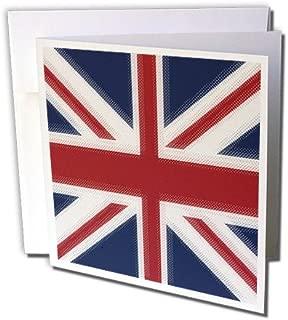 3dRose Union Jack UK - Greeting Cards, 6 x 6 inches, set of 12 (gc_60594_2)