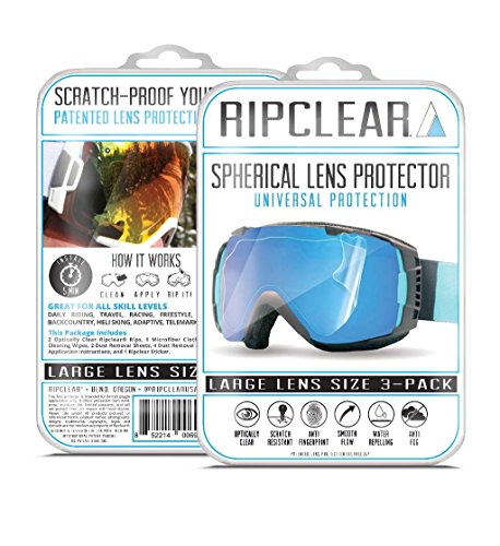 RIPCLEAR Spherical Lens Protector 3X Pack Lg Frame / x3 Spherical Lens