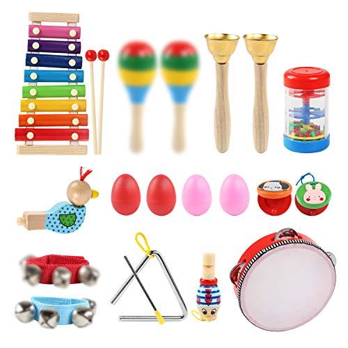 Ballery Juguetes de Instrumentos Musicales, Juguetes Músicales de Percusion para Bebes, Instrumentos Musicales Infantil