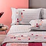 Caleffi - Juego de sábanas de plaza y media Time de algodón coral