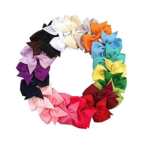 WINOMO Ruban cheveux Clips Boutique cheveux boucles filles enfants Alligator Clip gros-grain 20 couleurs