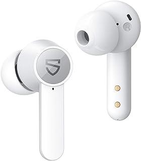 SoundPEATS Q Audífonos Bluetooth 5.0, Auriculares Inalámbricos Bluetooth IPX5 10mm Driver Reducción de Ruido de Llamada con 4-Mic, Audífonos Deportivos Carga Inalámbrica USB-C Total 21 Horas