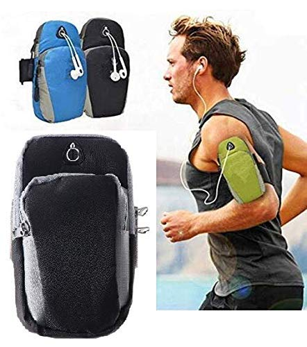 AMULAKH Arm Band, Water Resistant Washable Armband Mobile Holder, for Running, Cycling, Jogging, Yoga, Hiking, Fitness, Gym, Outdoor, Sports & Activities Armband for All Smart Phones (Multi)