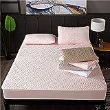 NHhuai Protector de colchón/Cubre colchón Acolchado, Ajustable y antiácaros. Ver descripción para el Enlace