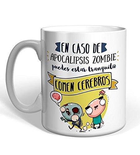 Taza Missborderlike -En caso de Apocalipsis Zombie, puedes estar tranquilo. Comen cerebros.
