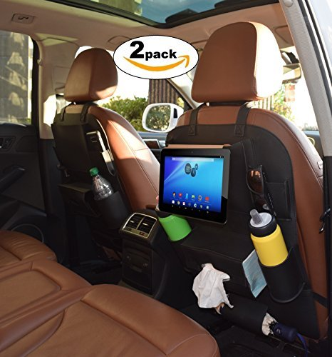 Car Back Seat Organizer Heavy-duty Thick PU Leather - 2 PACK