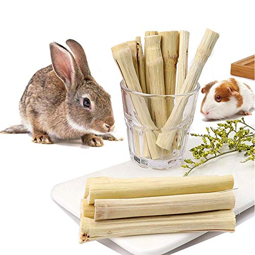 300g Rabbit Chew Toys, Rabbit Treats for Rabbit Molar and Clean Teeth, Natural Molar Sticks of Sweet Bamboo, for Rabbits, Guinea Pigs, Hamsters, Chinchillas, Squirrels ect Small Animals