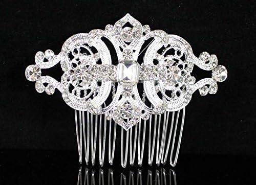 55% OFF Gatsby Clear Austrian Rhinestone Crystal Comb Hair Max 47% OFF Tiara Bridal
