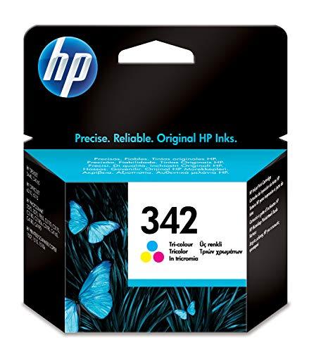 HP 342 C9361EE, Tricolor, Cartucho de Tinta Original, compatible con impresoras de inyección de tinta HP Deskjet 5440, Officejet serie 6310, Photosmart C3180, 2575, C4180, C4190, 8510