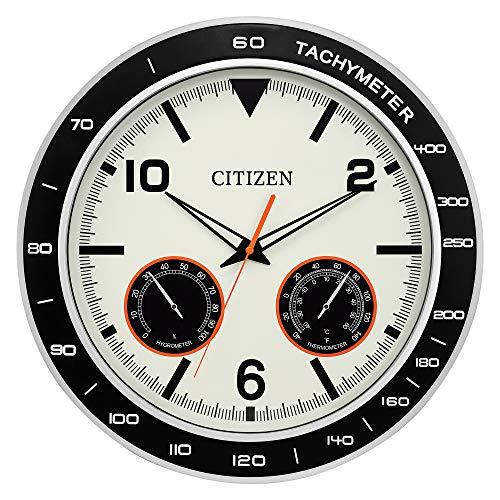 CITIZEN CC2019 - Reloj de Pared Resistente al Agua para Exteriores