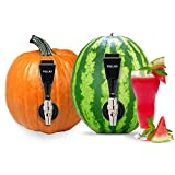 Watermelon Tap Beverage Dispenser Kit - Fruit Keg Tapping Kit & Coring Tool - Juice DIY Spigot, Beer Faucet, Great Spout to Turn Halloween Pumpkins into Ice Tea & Alcohol Drink Party Cocktails