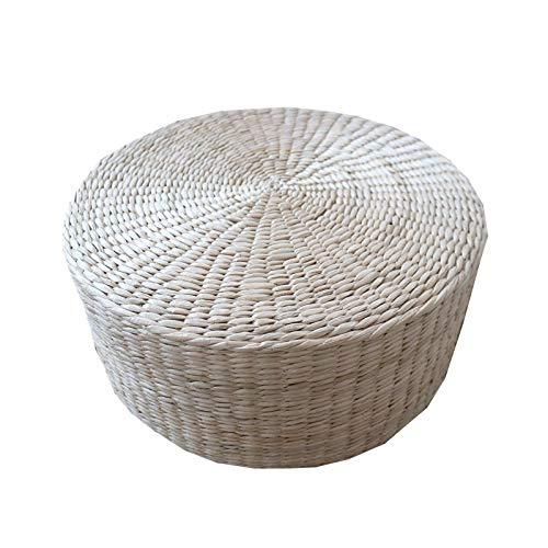 LTINN Cojines de Paja Tejida, esteras Gruesas de Paja para ventanales de Tatami, Tejidas a Mano, fáciles de Limpiar y Mantener, Resistentes al Desgaste, Buena tenacidad, Yoga, balcón