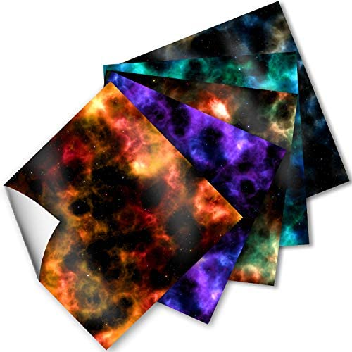 Craftopia Craft Vinyl Squares 12 x 12 Inch Galaxy Space Patterned Sheets for Design Transfers product image