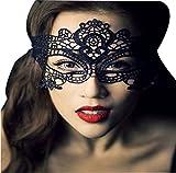 Hosaire 1x Máscara de Encaje Negro Hermosa,Mujeres Antifaz para Mascarada Veneciano Carnaval Halloween Fiesta de Baile Disfraces Juguetes para Pareja