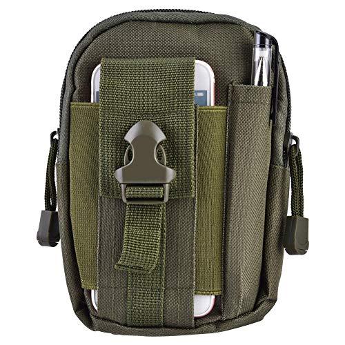 Filfeel waterdichte tas voor mobiele telefoon buiten, werkt met de camouflage op reis, 6,3 x 4,7 x 2,0 inch, legergroen