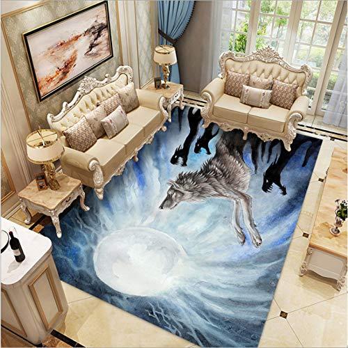 llh Alfombra Juego de Sala de Estar Alfombra Dormitorio 3D M