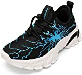BRONAX Little Boys Tenni Shoe Lightweight Size 12 Zapatos para Niños No Tie Slip Sneakers for Running Athletic Sports Tennis Gym Children Blue