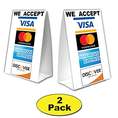 We Accept Credit Cards Table Tent with UV Coating